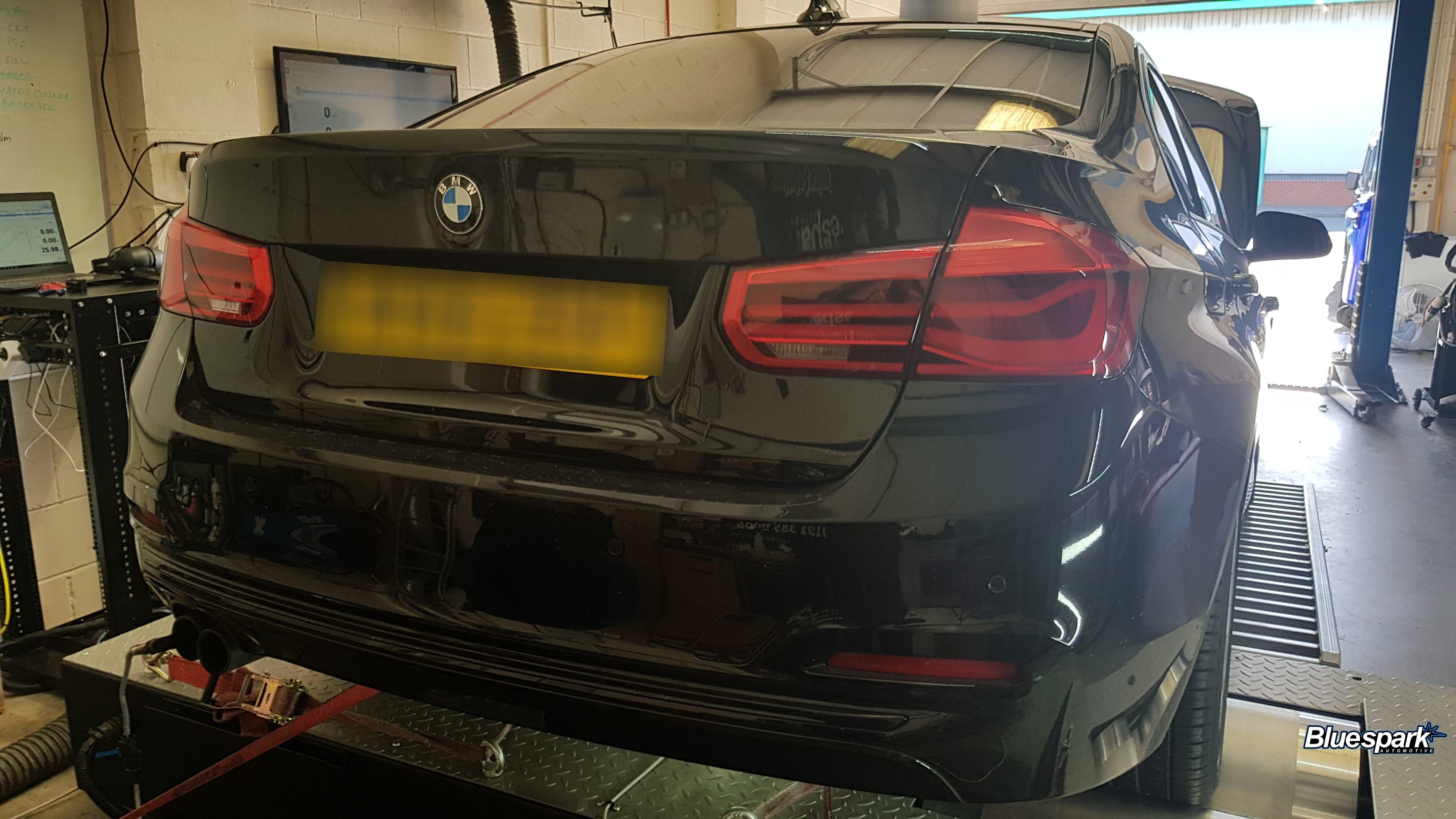 BMW 320i on Dyno